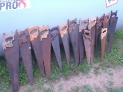 Vintage Hand Saws Carpentry Woodworking Hand Saws.mixed Lot Of 14 Pieces