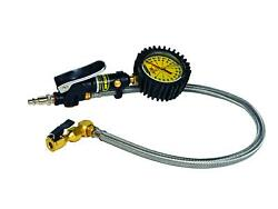 Tire Inflator Heavy Duty 160 Psi 2and039 Braided Hose Whip Click On Chuck Power Tank