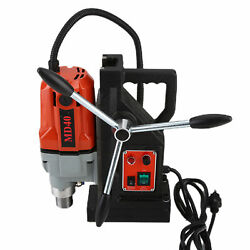 Md40 Magnetic Drill Press Machine Boring Magnet Force Tapping Kit 2700lbs 1100w