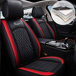 Car Seat Covers For Dodge Charger Leather Front And Rear Seats Covers Black Red