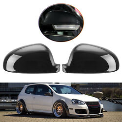 2 Pcs Abs Rear View Mirror Shell Replacement Parts For Vw Jetta Eos 2004-2009