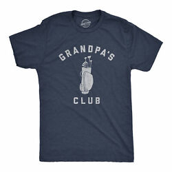 Mens Grandpaand039s Club Tshirt Funny Grandfather Golf Lover Gift For Gramps Novelty