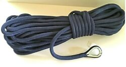 1/2 X 200 Navy Anchor Line Double Braid Nylon Boat Rope Made In The Usa