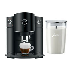 Jura D6 Automatic Coffee Machine Black With Glass Milk Container