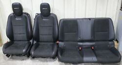 2013-2015 Camaro Zl1 Black Leather W/ Suede Front And Rear Seat Set Used Oem Gm