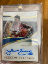 Julius Erving Auto Immaculate Collection Autograph 17/25
