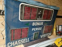 Vintage 1960and039s Fair Tron Play Basketball Scoreboard Chassell Michigan Usa Sign