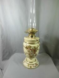 Antique Victorian Royal Worcester Hinks Oil Lamp