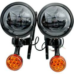 Rivco Products Mv195 4.5in. Led Auxiliary Lights With Turn Signals