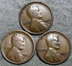 1913-s 1922-d 1926-s Lincoln Cent Wheat Penny Lot --- Nice Lot ---- S183