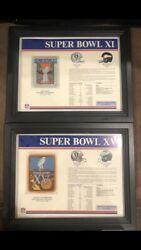 Oakland Raiders Framed Super Bowl Xi And Xv Patches