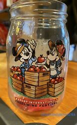 Disney Parks Epcot Food And Wine Festival 2021 Mickey And Minnie Glass Apple Jar