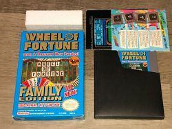 Wheel Of Fortune Family Edition Nintendo Nes W/box Authentic Good Condition