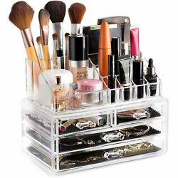 Makeup Organizer for Cosmetic Transparent Acrylic Cosmetic Storage Box Jewelry N $55.75