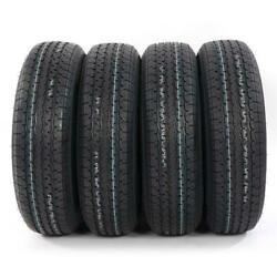 4pcs Trailer Tubeless Tires St205/75r-15 S.w. 8.2 / 208mm Ply Rate 8 New