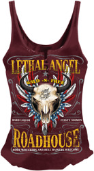 Lethal Threat La20595s Womenand039s Roadhouse Tank