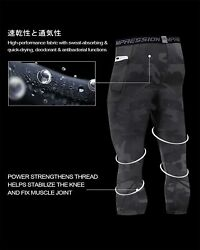 Milin Naco Menand039s Compression Pants Cool Dry Baselayer Running Sports Tights Wit