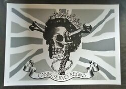 Dface Canis Servo Regina Dog Save The Queen Signed Print -/80 Pow Mint Dface