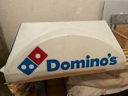 Dominoand039s Pizza Delivery Driver Car Truck Magnetic Sign Topper No Cord