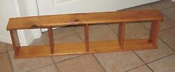 Retro Vintage 1960and039s Handcrafted Knotty Pine 2 Way Wall Shelf Unit
