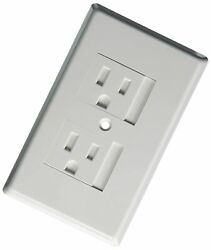 Nib Safe Plate For Electric Outlet - Bulk 50 Pack - White With Single Screw