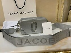 MARC JACOBS Snapshot Small Camera Bag Crossbody The New Silver 100% Genuine $239.00
