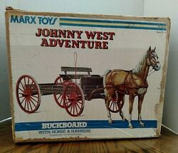 Vintage Marx Johnny West Buckboard With Box And Accessories/1975/horse/buggy Whip