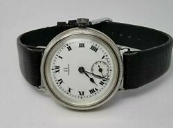 Very Rare Omega Solid Silver Triple Signed Trench Ww1 Watch