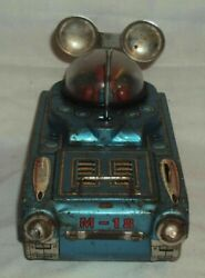 Nomura Tn Tinplate Space Tank M 18 Tin Toy Old Very Vintage 1 From Japan