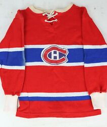Vintage 1950s Montreal Canadians Youth/child Knit Wool Jersey Sweater Nhl Hockey