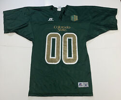 Colorado State Rams Authentic Russell Athletic Football 00 Jersey-small👀🔎vtg