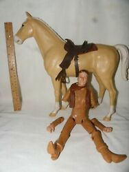Vintage Marx Johnny West Action Figure And Horse Thunderbolt