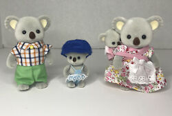 Calico Critters Outback Koala Family Removable Clothes Articulated Arm Legs Head