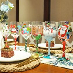 Wine Glass Artificial Hand-painted Crystal Goblet Ornaments Whiskey Gift Glasses
