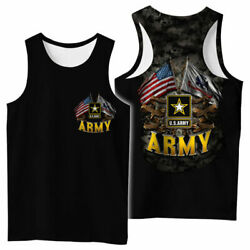 Us Army American Flag 3d All Over Printed Clothes Menand039s Tank Top Hot Gift Summer