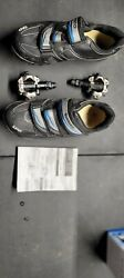 Shimano Pd-m520 Mountain Bike Clipless Pedals Spd Steel With Shoes Spd Wm51
