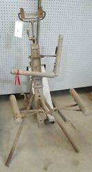 1895 Antique Military Portable S.s. White Dentist Chair L@@k Yank Old West Teeth