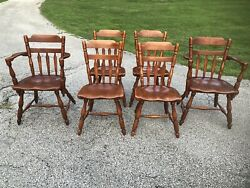 Set Of 6 Vintage Cushman Colonial Of Vermont Chairs 7031