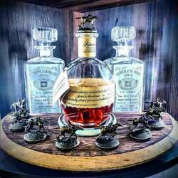 Blanton's Bourbon Lid Stopper Display With Churchill Downs Horseshoe