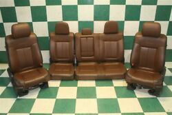 09-14 F-150 Platinum Brown Leather Dual Power Heat Cool Bucket Seats Back Seat