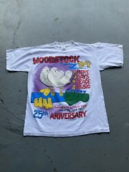 Vintage Woodstock 94 25th Aniversary Sold Out Festival Shirt