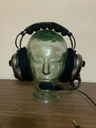 Avcomm Ac950 Anr Pilot Aviation Headset Active Noise Reduction New W/ Extras