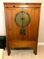 Stunning Antique Chinese Wardrobe Or Armoire
