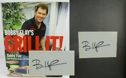 Bobby Flay's Grill It Bobby Flay ✎ Signed ✎ Stated 1st Edition Cookbook Nice