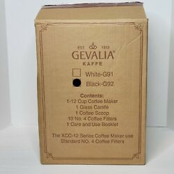 Gevalia Kaffe G92 Black/stainless 12 Cup Automatic Prog Coffee Maker Xcc-12 New