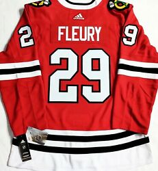 Nt-pro-46 Marc-andre Fleury Chicago Blackhawks Adidas Climalite Authentic Jersey