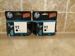 Hp 92 Black Ink Cartridges 2 New In Retail Pkg, Expired, See Pictures