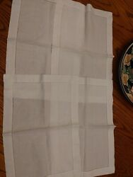 6 Piece Vintage Antique Table Linen Sqaure Table Cover Runners Place Mats Napkin