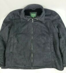 David Taylor Collection Jacket Zip Faux Suede Fur Lined Pockets 3xl