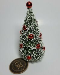 Grasslands Road Holiday 6.5 X 3 Bottle Brush Decorated Christmas Tree Ornament